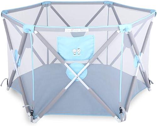 compra limitada Valla de Juego para Niños Cerca de de de bebé Alfombra de Arrastre de bebé de Interior Alfombra de Niño Plegable para el hogar (Color   azul)  hasta un 60% de descuento