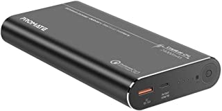 Promate USB-C Power Bank for Laptop, Ultra High Capacity 24000mAh Power Bank with Qualcomm QC 3.0 USB Port and 80W Power D...