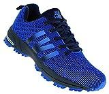 Sandic Neon Turnschuhe Sneaker Sportschuhe Herren Boots 096, Schuhgröße:43, Farbe:Dunkelblau
