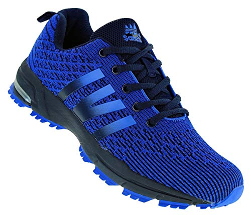 Sandic Neon Turnschuhe Sneaker Sportschuhe Herren Boots 096, Schuhgröße:42, Farbe:Dunkelblau