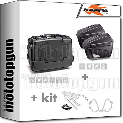 kappa maleta kgr46n + maletas laterales k22n + portaequipaje monokey + portamaletas lateral monokey compatible con triumph bonneville t100 2020 20