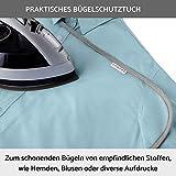 lamodo® - Bügelbrettbezug 120x40 für Dampfbügeleisen aus 100% Baumwolle mit extra Dicker Polsterung inkl. Bügeltuch - Gummizug und smartem Klettverschluss + Bügeltipps - 7