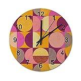 happygoluck1y Bauhaus - Reloj de pared sin costuras, diseño moderno, rústico, moderno, para decoración de sala de estar, dormitorio, casa de campo y reloj de pared, silencioso, 30,5 cm