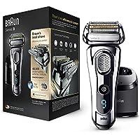 Braun 9297 Series 9  - Afeitadora Eléctrica, Máquina de Afeitar Barba en Seco y Mojado, Recortadora de Precisión Integrada, Recargable, color Cromo