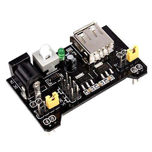 JBtek Breadboard Power Supply Module 3.3V/5V For Arduino Board Solderless Breadboard