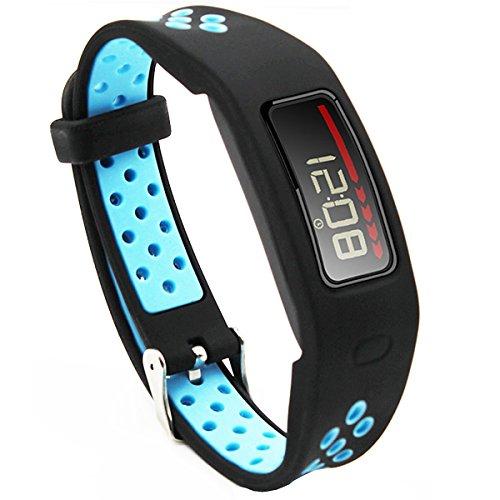 Elespoto Garmin Vivofit Accesorios Correa de Repuesto Banda Deporte Correas para Garmin Vivofit generación Pulsera Fitness Pulsera Reloj Inteligente rastreador Actividad con Hebilla (Black Blue)