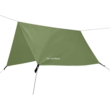 Suyi Portable Lightweight Camping Tent Tarp Shelter Mat Hammock Cover Sun Shade,Camping Equipment Essential Survival Gear,Stakes Include,with Carry Bag