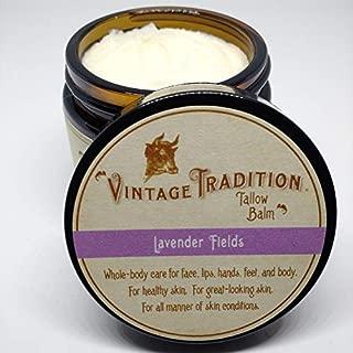 Vintage Tradition Lavender Fields Tallow Balm, 100% Grass-Fed, 2 Fl Oz