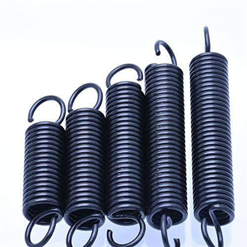 XBF-TOOL, X-Baofu, 5pcs Extensión de Primavera con los Ganchos de 1 mm de Alambre Delgado muelles de tracción de Acero Resorte de extensión a Largo 25-60mm (tamaño : 1 x 10 x 50mm)