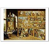 世界の名画TeniersTheYounger ブリュッセルのレオポルドヴィルヘルムの美術コレクション ジークレー技法 高級ポスター (B2/515ミリ×728ミリ)