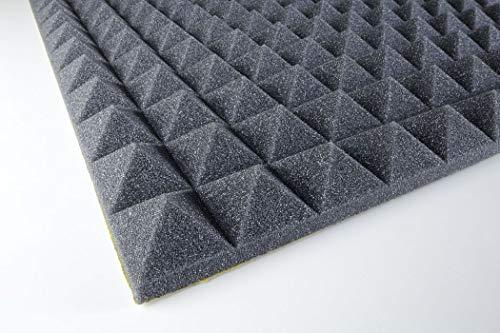 paneles de absorción de sonido PUPIR30ad piramidal adhesivo