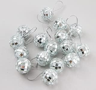 Klicnow 24 pcs 1.8 Inch Disco Ball Mirror Party Christmas Xmas Tree Ornament Decoration with Ellami Fastening Strap