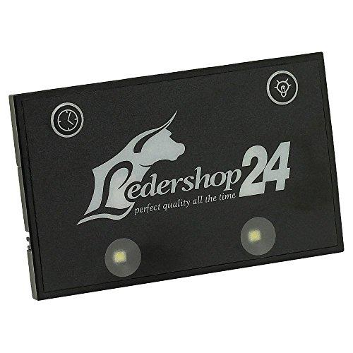 Ledershop24 LED Licht Bag Spot für Kellnerbörse Kellner Kellnergeldbörse Geldbörse Kellnergeldbeutel Bedienungsbörse Damentasche Handtasche Tasche Farbe schwarz
