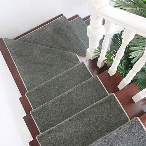 Alfombrillas para escaleras, alfombras suaves Alfombras para peldaños para uso en interiores Resistente al deslizamiento Silencio Luz nocturna Decoración para...