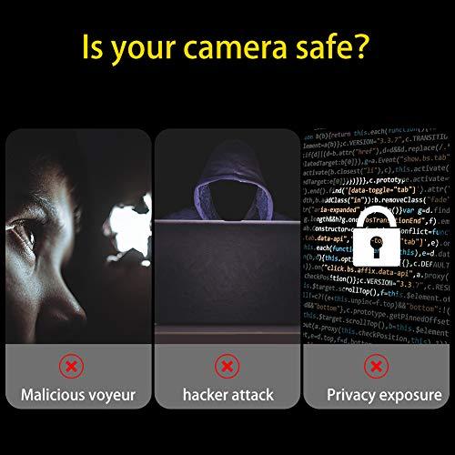 SUI-lim Webcam Abdeckung, 6er Pack Kleine Webcam Cover, Ultra Dünne Klebeband Kamera Abdeckung, für Laptop, iPad Pro, PC, Webcam Schutz(Schwarz)