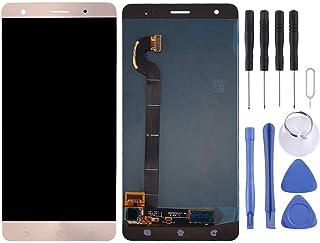 شاشة الهاتف المحمول LCD LCD Screen and Digitizer Full Assembly for Asus ZenFone 3 Deluxe / ZS570KL / Z016D(Gold) شاشة عرض ...
