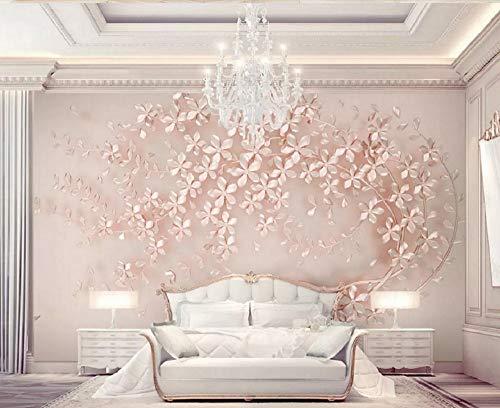 Wall Murals 3D Wallpaper Rose Gold Flower Luxury 3D Wall Mural Living Room Sofa Tv Wall Bedroom Wallpaper