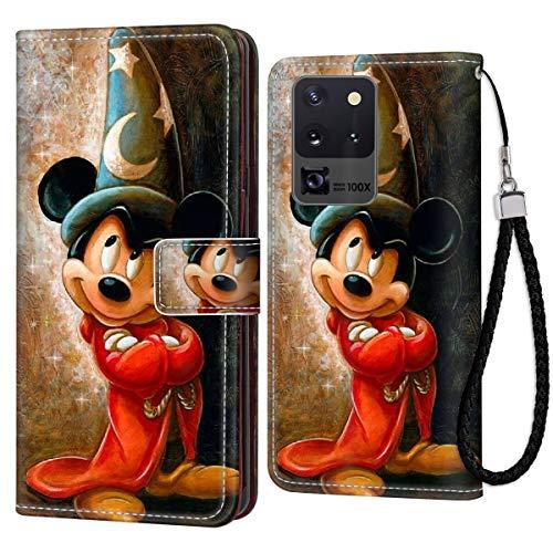DISNEY COLLECTION Funda tipo cartera para Samsung Galaxy S20, diseño de Mickey Mouse, 2 patrones, tarjetero con cierre magnético, función atril
