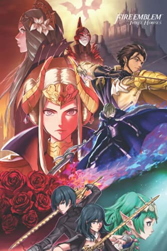 Fire Emblem Three Houses Notebook: - 6 x 9 inches with 110 pages