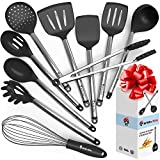Cooking Silicone Utensils Set 10 - Best Nonstick Kitchen Cookware Utensil Sets - Large Hanging...