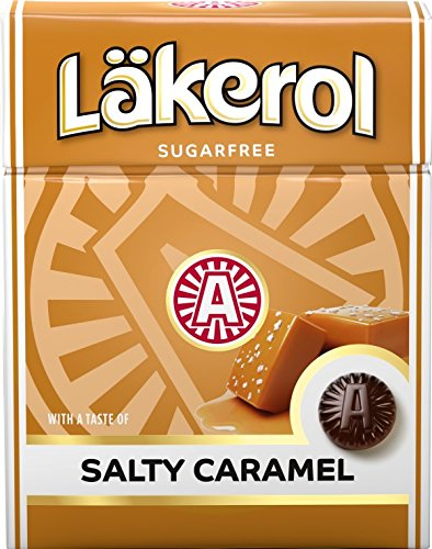 Lakerol Sugar-Free Salty Caramel Sweet, 0.8 Ounce (Pack of 24)