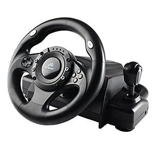 Tracer Drifter Volante PC/PS3 USB con Vibrazione Pedali e Cambio di Velocità