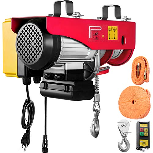 VEVOR 880LBS Electric Winch, Steel Electric Lift, 110V Electric Hoist With Wireless Remote Control