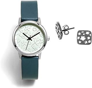 Juego Agatha Ruiz de la Prada reloj AGR284 pendientes plata Ley 925m flores caladas cuadrado - Modelo: AGR284