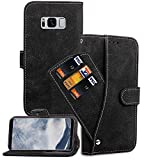 Asuwish Samsung Galaxy S8 Plus/S8+ Wallet Case, Leather