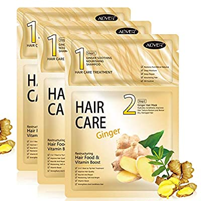 Hair Mask 3 pack, Hair Mask for Dry Damaged Hair and Growth, Deep Conditioner Hair Treatment, Hair Masks Care for Curly Oily Frizzy Hair and Dry Scalp
