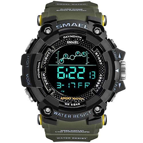 Orologio da uomo militare Orologio sportivo resistente all'acqua Esercito led Cronometri digitali da polso per orologi da uomo 1802 relogio masculino