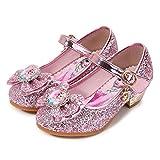 YOSICIL Disfraz Princesa Zapatos Frozen Elsa Zapatos de Lentejuelas...
