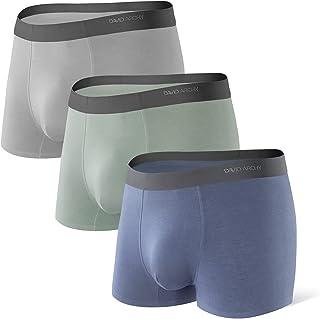 DAVID ARCHY Men's 3 Pack Ultra Soft Micro Modal Trunks Seamless Underwear