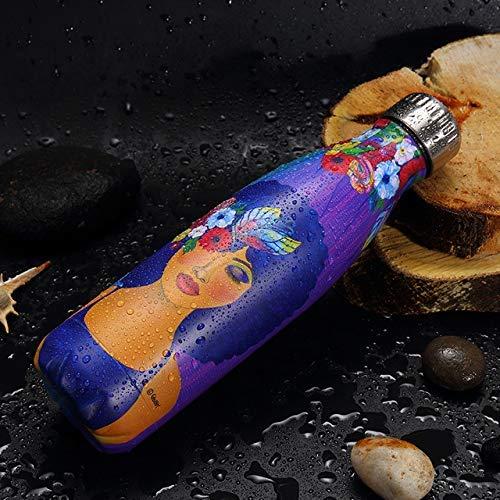 500 ml Taza de Viaje Taza de Viaje Taza de Doble Pared de Acero Inoxidable Frascos de vacío Thermo Botella Regalos Termocup para té, 055 HMP (Color : 58)