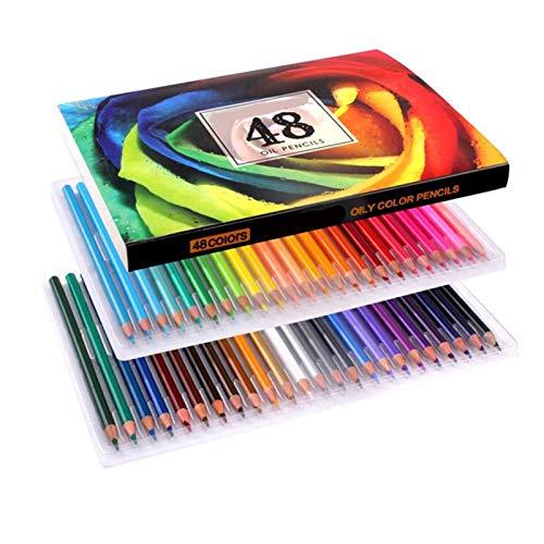 Lapices Colores Yuan Ou 48/72/120/160 juego de lápices de colores, los mejores lápices de colores para artistas, cómics, ilustración, diseñador de interiores, estudiante, arte 48 colores