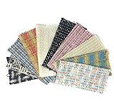 Finest designer tessuto tweed quadrati–10quadrati 23cm x 23cm