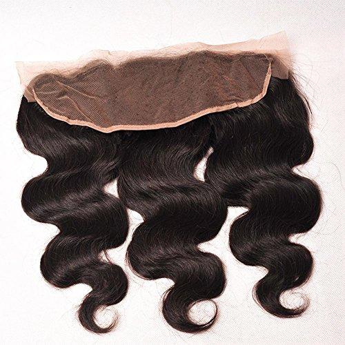 Meylee Postiches Tissés à la main d'Meylee 13 * 4 dentelle frontale Body Wave cheveux humain fermeture 60 grammes/pc 10inch