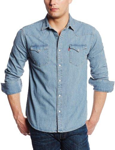 Levi's Men's Standard Barstow light blue Denim Western