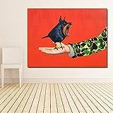ganlanshu Pintura sin Marco de la Mano pájaro Infinito Cartel Lienzo Pintura Mural Personaje Pintura Sala decoración del hogar ZGQ3012 30X40cm
