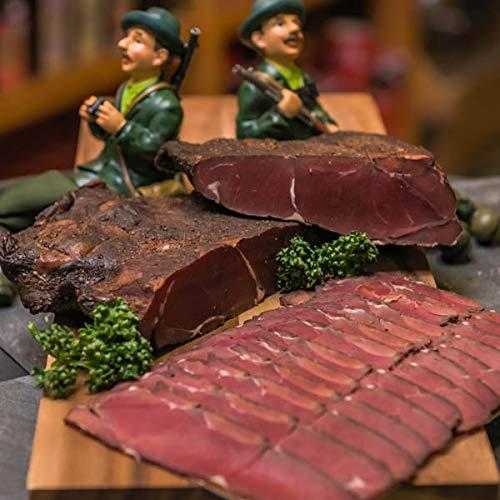 Rehschinken im Stück | Feiner Schinken aus edlem Rehfleisch | geräucherte Wildspezialität aus dem Harz