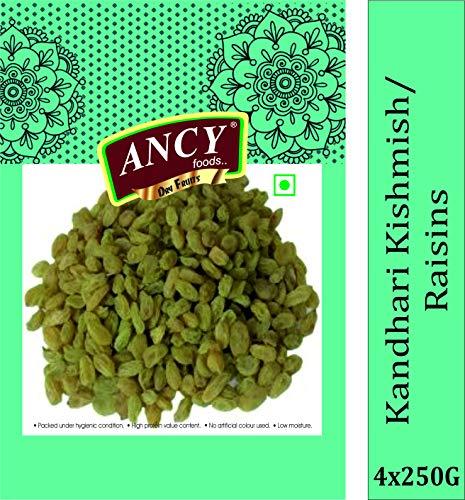 Ancy Foods Premium Dry Fruits (Kandhari Raisin/Kishmish 1kg)(Pack of 4x250g)