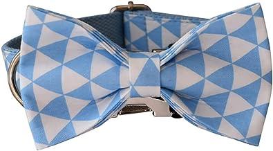 Blauwe kraag gepersonaliseerde katoen kwaliteit stof voor kleine, middelgrote grote hond metalen onderdelen huisdier acces...