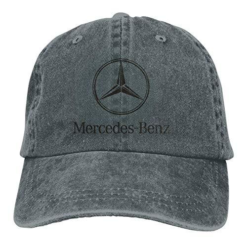 Mens Vintage Adjustable Casquette Customized Mercedes Benz Logo Funny Cowboy Hat, Red,Sombreros y Gorras