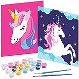 Tacobear Unicornio Pintar por Números Niños DIY Pintura óleo Pintura Niños Kit Manualidades Niños Pintar por Números Principiantes Paint by Numbers Niños Unicornio Regalo para Niños Niñas