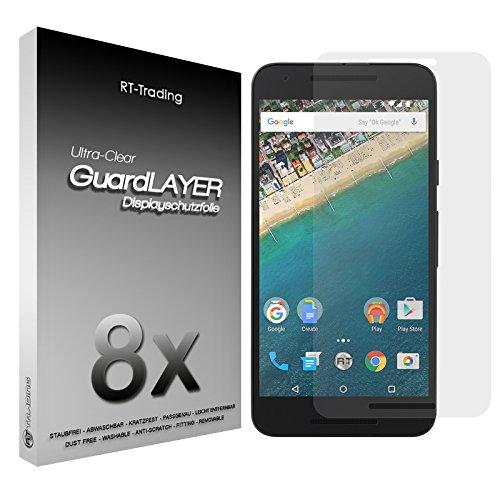 3x LG Google Nexus 5X - Bildschirm Schutzfolie Klar Folie Schutz Bildschirm Screen Protector Bildschirmfolie - RT-Trading
