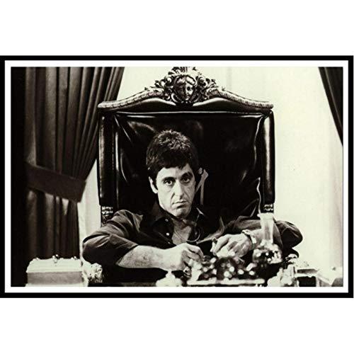 shuimanjinshan Al Pacino Scarface Movie Poster Photo Wallpaper Bar Cafe Decoration 40x50cm No Frame HZ-1601