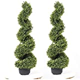 35 Inch Artificial Boxwood Topiary...