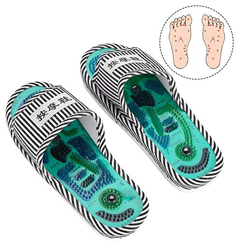 Akupressur Massage Hausschuhe, Magnetische Therapie Massage Schuhe Massage Hausschuhe Gesundheitspflege Blut Aktivierung Fuß Entspannung Massage Schuhe für Männer und Frauen (Männlich)