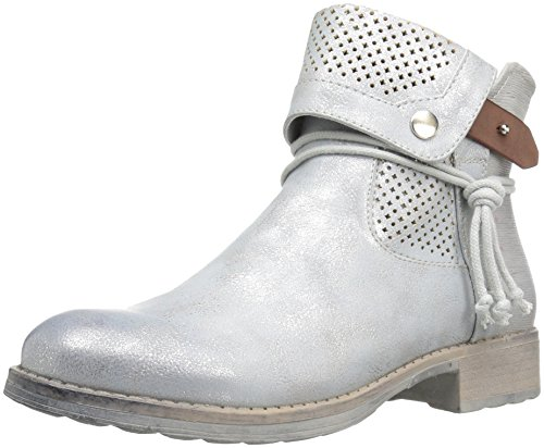 Dirty Laundry by Chinese Laundry Women's Tumbler Ankle Bootie, Silver Smooth, 9.5 M US