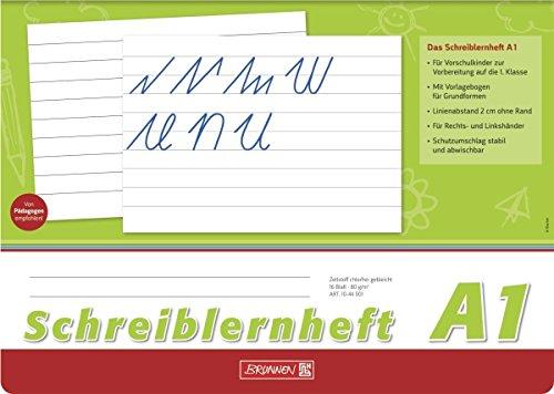 Brunnen Schreiblernheft A4 quer, 16 Blatt (5er Pack, Lineatur A1)